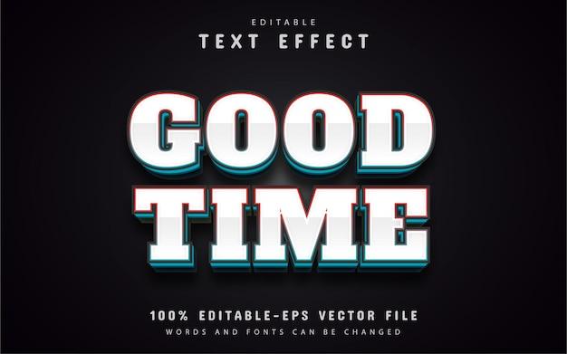 Texto em tempo bom, efeito de texto estilo prateado
