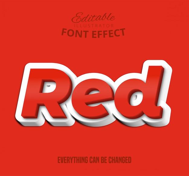 Texto em vermelho, efeito fonte editável