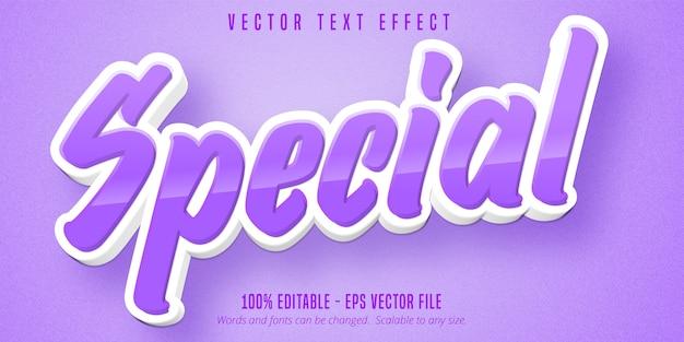 Texto especial, efeito de texto editável no estilo desenho animado