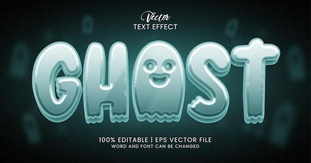 Texto fantasma, modelo de estilo de efeito de texto editável em 3d