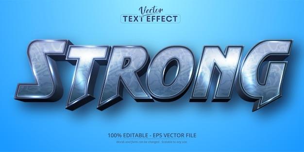 Texto forte, efeito de texto editável no estilo desenho animado