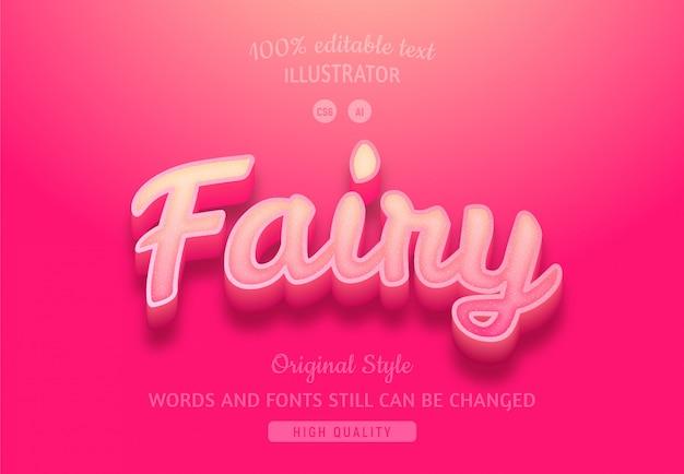 Texto gradiente rosa de fada.
