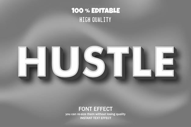 Texto hustle, efeito de fonte editável
