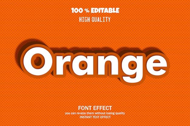 Texto laranja, efeito de fonte editável