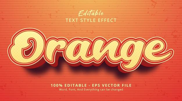 Texto laranja em estilo de pôster com título de cor laranja, efeito de texto editável