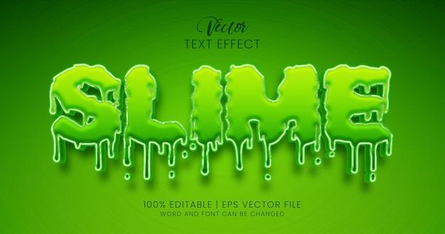 Texto limoso, estilo de efeito de texto editável verde