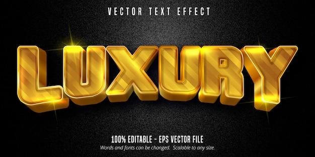 Texto luxuoso, efeito de texto editável estilo dourado brilhante