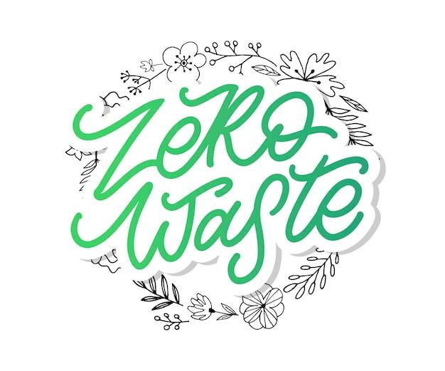 Texto manuscrito do conceito zero waste
