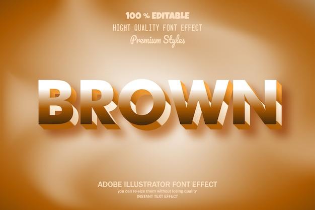 Texto marrom, efeito de fonte