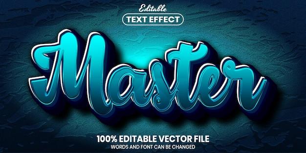Texto mestre, efeito de texto editável de estilo de fonte