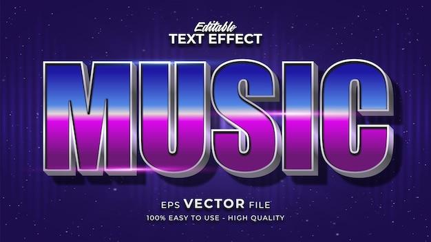 Texto musical em gradiente colorido com efeito brilhante e estilo futurista