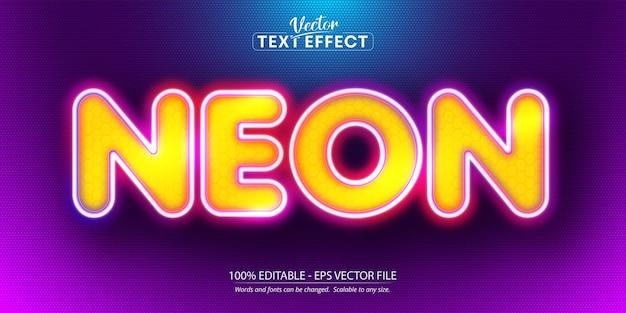Texto neon, efeito de texto editável estilo neon