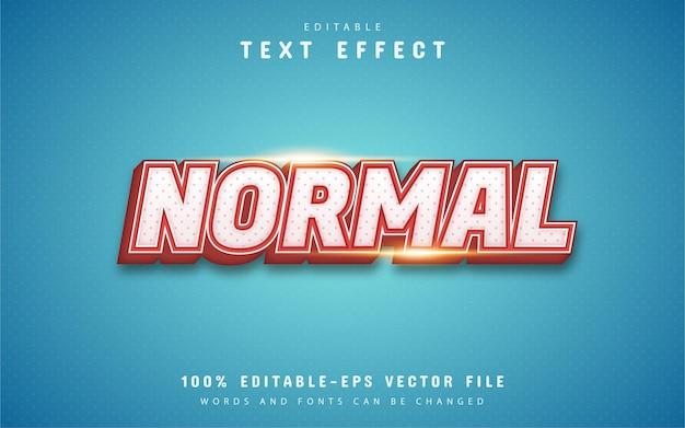 Texto normal, efeito de texto de estilo vintage