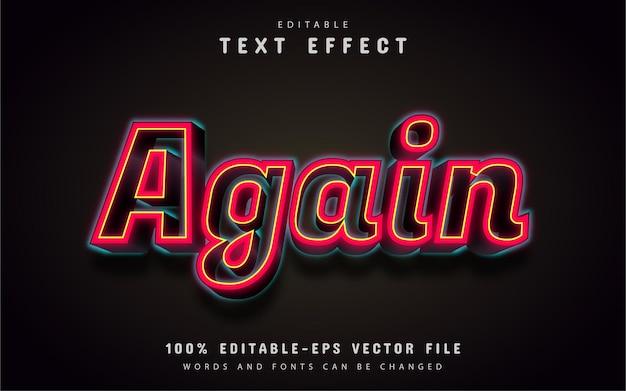 Texto novamente, efeito de texto 3d vermelho