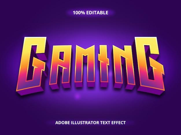 Texto para jogos - efeito de fonte editável