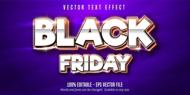 Texto preto sexta-feira, efeito de texto editável