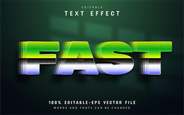 Texto rápido, efeito de gradiente 3d