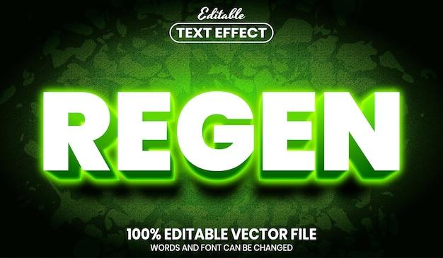 Texto regenerado, efeito de texto editável de estilo de fonte