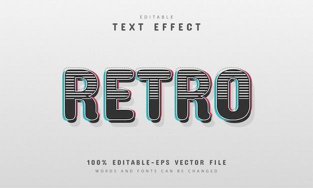 Texto retrô, efeito de texto 3d editável