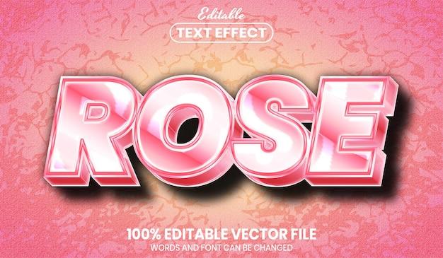 Texto rosa, efeito de texto editável