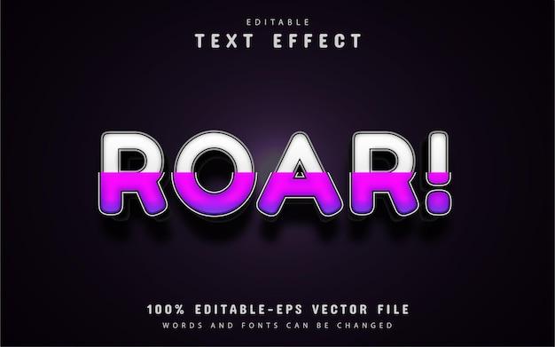 Texto rugido - efeito de texto gradiente roxo