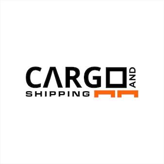 Texto simples do logotipo de carga e envio