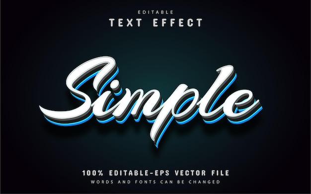 Texto simples, efeito de texto de estilo minimalista