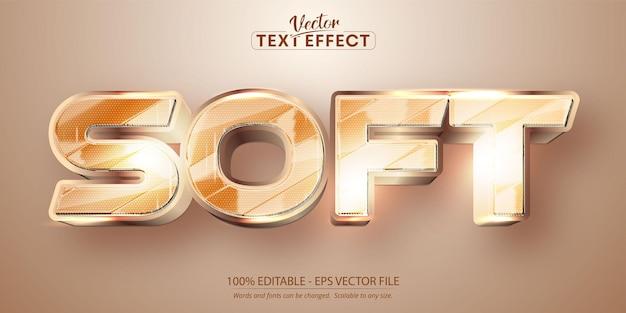 Texto suave, efeito de texto editável estilo dourado