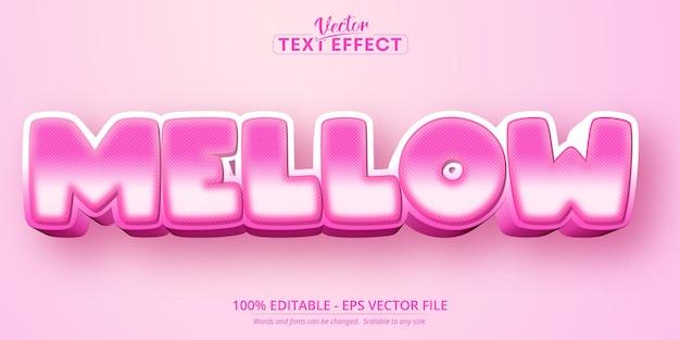 Texto suave, efeito de texto editável no estilo desenho animado