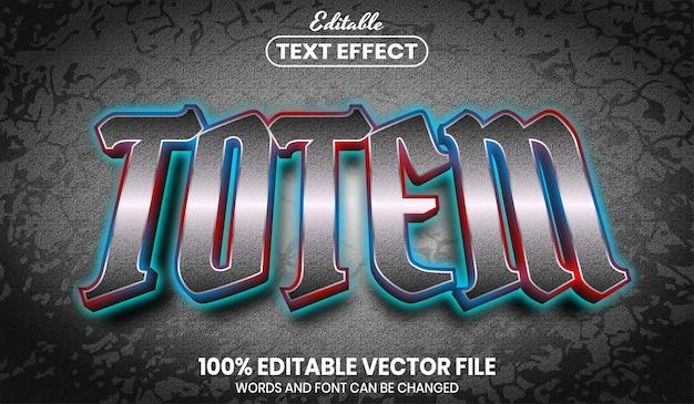 Texto totem, efeito de texto editável