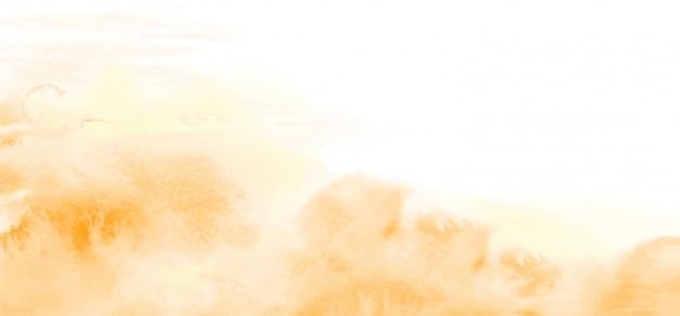 Textura abstrata de aquarela amarelo-laranja clara para o fundo