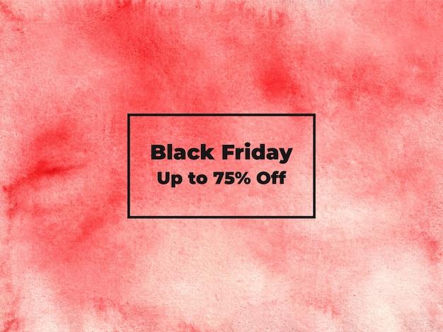 Textura abstrata de aquarela de sexta-feira negra