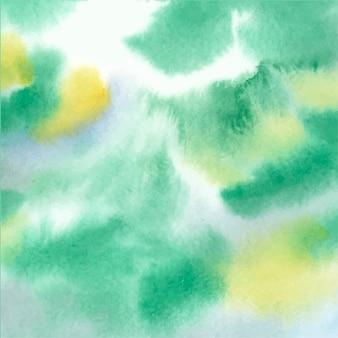 Textura abstrata de aquarela mancha verde