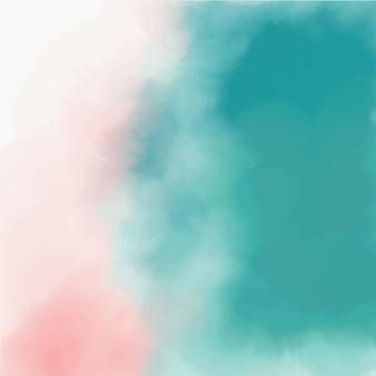 Textura abstrata de aquarela rosa e turquesa