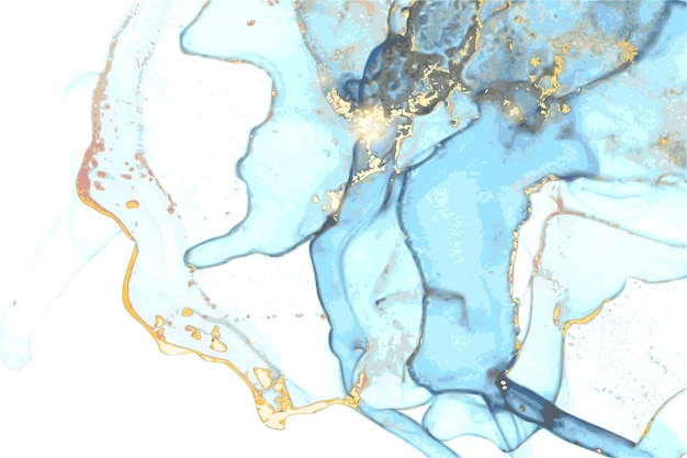 Textura abstrata de mármore em técnica oriental de tinta a álcool com glitter
