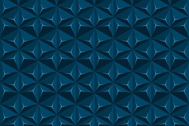 Textura abstrata geométrica hexágono, fundo azul triângulo