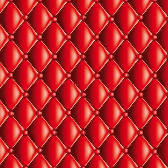 Textura acolchoada vermelha