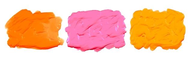 Textura aquarela acrílica grossa rosa laranja e amarelo