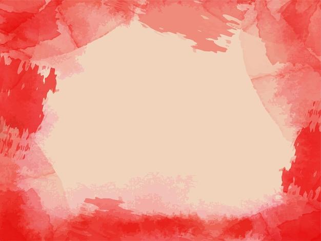 Textura aquarela de cores vermelhas brilhantes no fundo branco