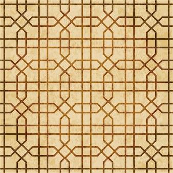 Textura aquarela marrom, padrão sem emenda, moldura de geometria cruzada em octógono