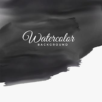 Textura aquarela preta com espaço de texto