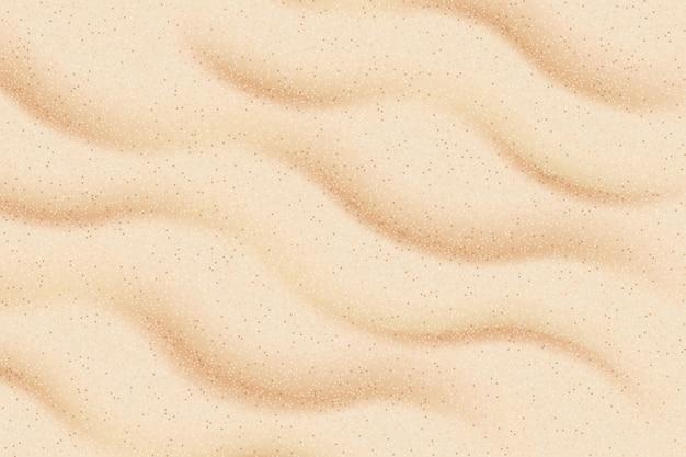 Textura bege clara da areia do mar, vista superior do plano de fundo texturizado da praia arenosa