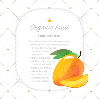 Textura colorida aquarela natureza fruta orgânica memo moldura manga