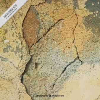 Textura da parede com rachaduras e pintura escamosa