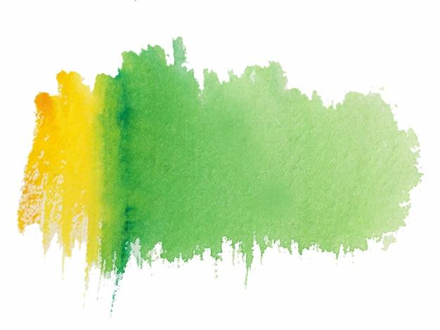 Textura de aquarela pintada à mão de cores verdes e amarelas brilhantes