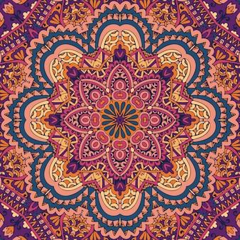 Textura de arte de mandala de padrão sem emenda de vetor