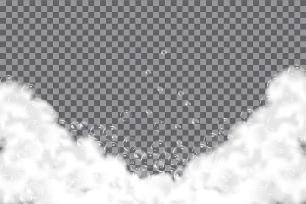 Textura de bolhas de shampoo.