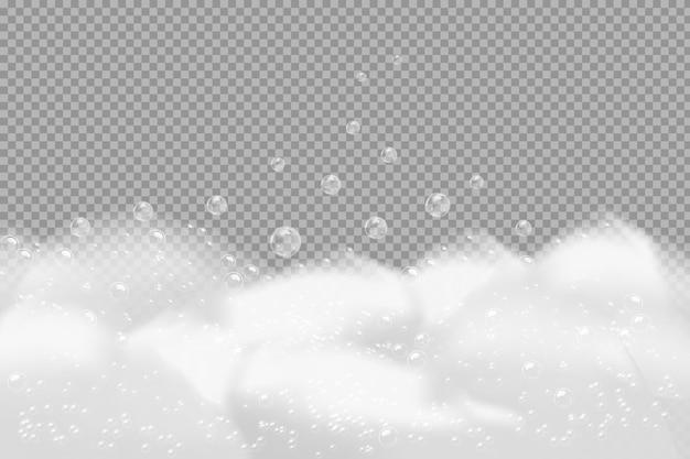 Textura de bolhas de xampu. ilustração de xampu espumante e espuma de banho.