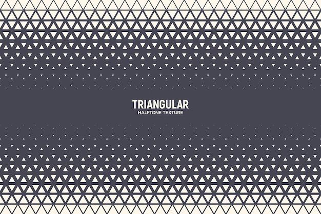 Textura de borda padrão de meio-tom triangular tecnologia geométrica fundo abstrato