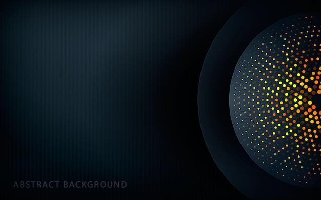 Textura de círculo realista com brilhos dourados